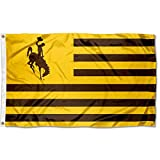 College Flags & Banners Co. Wyoming Cowboys Stars and Stripes Nation Flag