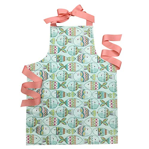 Handmade Colorful Fish Tween Girl Apron Gift for Kitchen Baking or Art