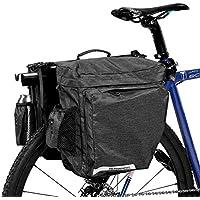 DCCN Alforja Pannier Bike Pannier Super Design 2 en 1 Bicicleta Pannier Doble bolsa 22L gris oscuro