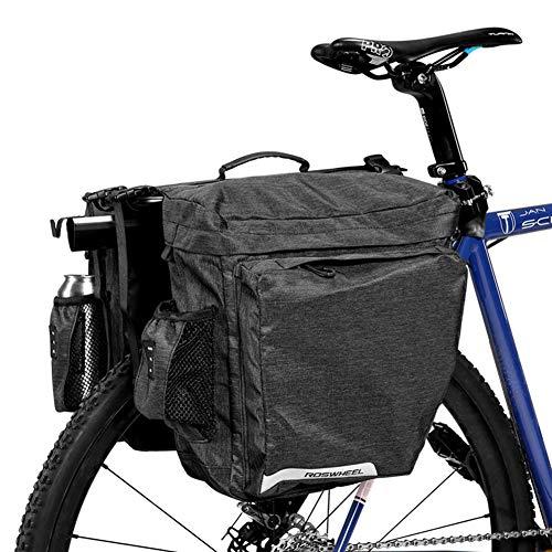 DCCN, zadeltas, fietstas, fietstas, fietstas, super design, 2 in 1 achterkoffer, 22 liter