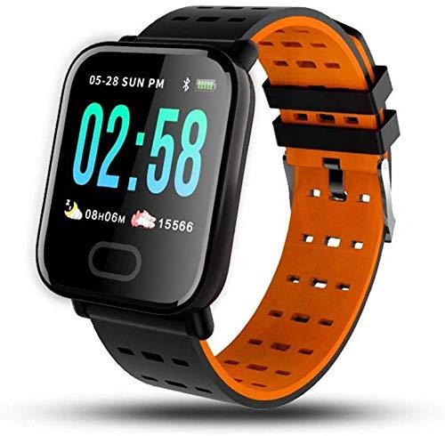 Onbekend fitness tracker, activity tracker, waterdicht met hartslagmeter, slaapmonitor, stappenteller, sport, oranje, blauw, zwart