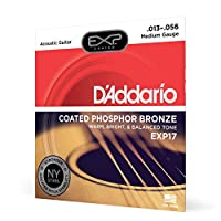 D'Addario ダダリオ アコースティックギター弦 EXPコーティング フォスファーブロンズ Medium .013-.056 EXP17 【国内正規品】