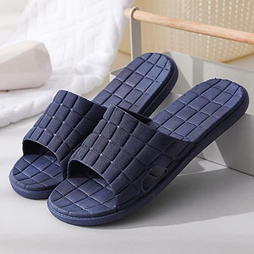TDYSDYN Sandalias de baño Antideslizantes,Zapatillas de plástico Transpirables para el Piso, Sandalias de baño y Pantuflas de Pareja-Armada_40-41