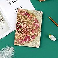 IPad Pro 11 ケース 2018新モデル対応 二つ折スタンド保護ケース iPad Pro 11インチ 専用カバー オートスリープ機能付き 手帳型 タブレットカバー精神的なファンタジーの花活気に満ちた色コスモスバランス伝統的なプリント装飾