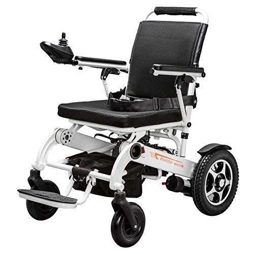 Y-L Faltbarer Power Compact Mobility Aid Rollstuhl, 19,8 Kg Leichtgewicht-Elektrorollstuhl, Gewichtskapazität 150 Kg, Sitzbreite 45 cm, 4 Stoßdämpfer, Motorisierter Rollstuhl, Weiß