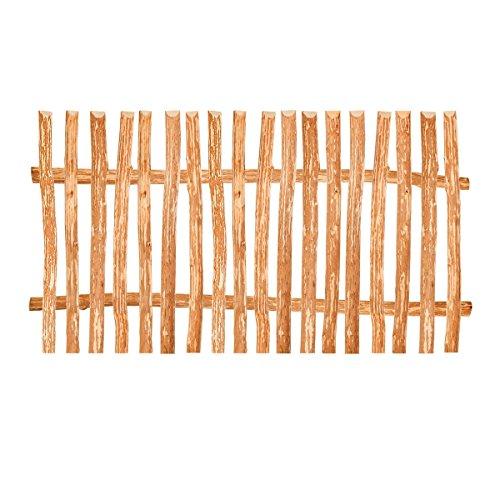 BooGardi Stakethek element hazelnoot in 90 varianten • Bouwpakket voor lattenhek/plankhek van hazelnoot incl. dwarsbalk, heklatten en schroeven Rustiek HxB: 90 x 200 cm Lattenabstand 5-6 cm