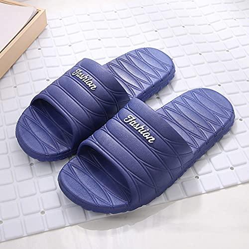 Zapatillas de baño Antideslizantes ultraligeras, Baño de baño de Fondo Grueso sin Fondo.-Azul Oscuro_38-39, Baño Sandalia Suela De Espuma Suave Zapatos