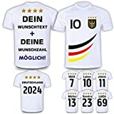 Deutschland Trikot mit GRATIS Wunschname Nummer Wappen Typ #D 2019 günstig im EM/WM Weiss -...