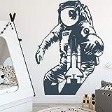 yaonuli Astronaut Wandaufkleber Selbstklebende Vinyl Wohnzimmer Schlafzimmer Wandkunst Aufkleber...