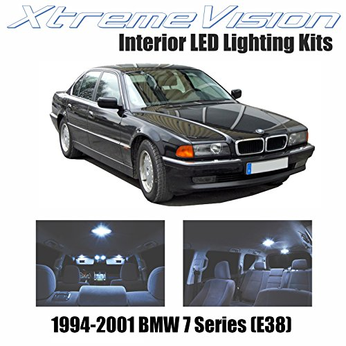 XtremeVision Interior LED for BMW 7 Series (E38) 1994-2001 (14 Pieces) Cool White Interior LED Kit + Installation Tool