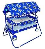 Avani Baby Cradle Cot Cum Stroller (Blue01)