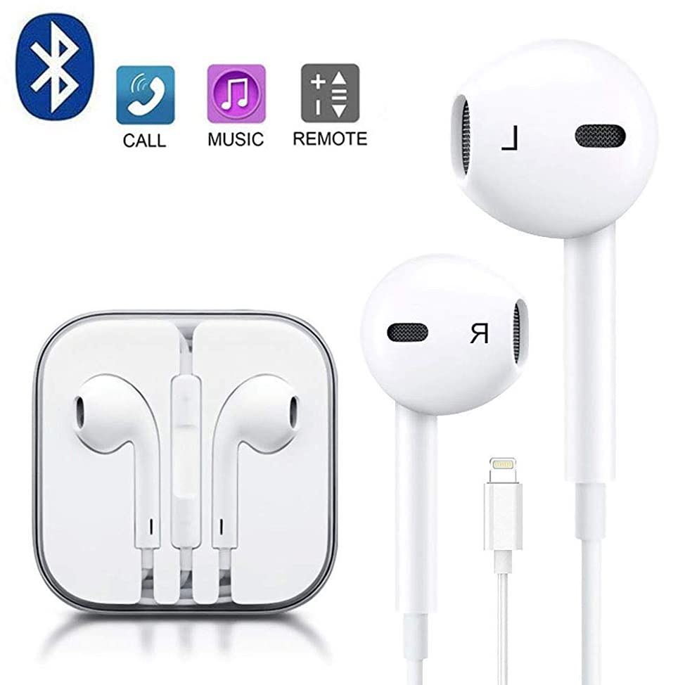 Earbuds, Microphone Earphones Stereo Headphones Noise Isolating Headset Compatible with iPhone Xs/XS Max/XR/X/8/8 Plus/7/7 Plus Headphones qhxyseif788