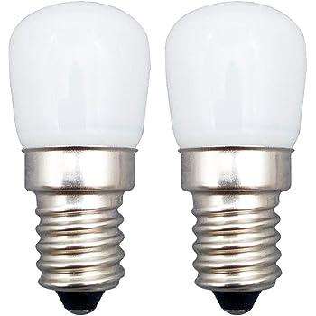 KingYH 2 Stück E14 LED Lampe 2.5W E14 LED Birne Kühlschrank Licht Warmweiß 3000K Ersatz 25W Halogenlampen Dimmbar 360°Abstrahlwinkel für Kühlschrank