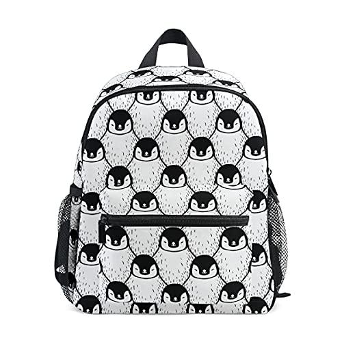 Children's Backpack, Kids Schoolbag Cute Penguin Print Students Bookbag for Boys Girls, Chest Strap