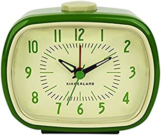 Kikkerland Retro Alarm Clock, Green