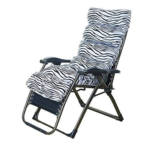 ZDYHEHAN Liegestuhl Lounge Chair,Klappstuhl Lunch Break Lounge Chair Büro Freizeit Lazy Couch,Zebra