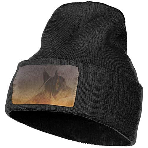Kotdeqay Home and Dog Strickmütze für Männer und Frauen, 100% Acrylsäure Mas Beanie