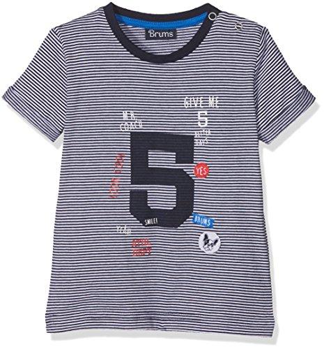 Brums 181BDFN004 T-Shirt, Multicolore (Bianco/Blu 903), 68 (Taglia Produttore:6M) Bimbo