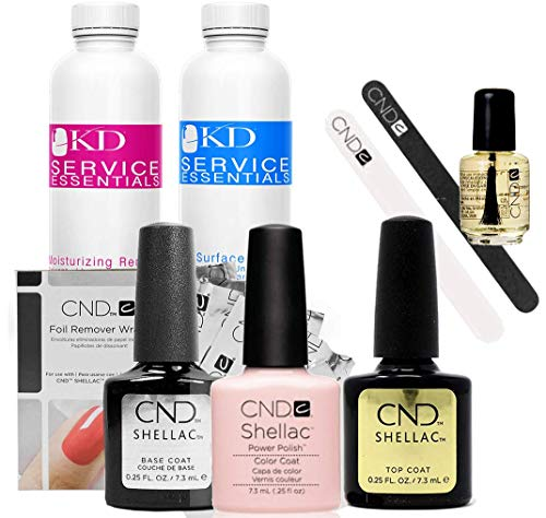 CND Shellac Starter Kit Top, Base, Essential e Clearly Pink