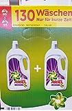 Ariel Detergente líquido, detergente de color, protección del color, 130 lavados (2 x 3.575 L)