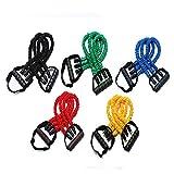 FGJH Pedal de Tres Tubos Pedal Tensor Resistencia a la Aptitud Bandas Entrenamiento Pesado Bandas Elásticas Yoga Juego de Bucle para Hombres para Hombre Equipo de Ejercicio 0506