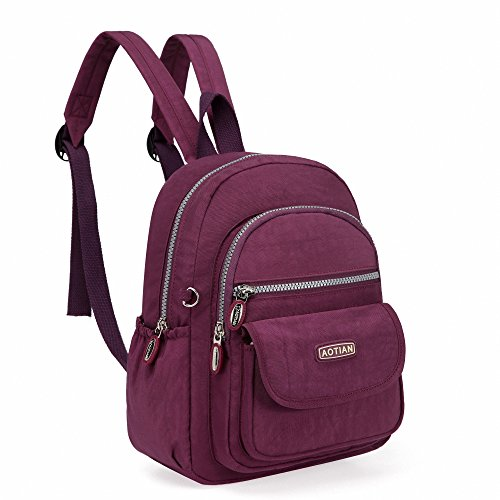 AOTIAN Mini Nylon Women Backpacks Casual Lightweight Small Daypack for Girls