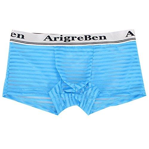 Celucke Unterwäsche Herren Transparent Boxershorts, Männer Niedrige Taille Boxer Beule Comfy Shorts Unterhose Unterwäsche