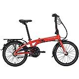 Tern Faltrad Link C7i Fahrrad 7 Gang 20 Zoll Alu Nabenschaltung Shimano Ständer Gepäckträger, CB19PFCO07HDR, Farbe Rot