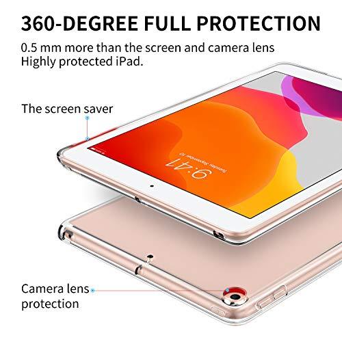 ELTD Hülle für iPad 2019 10,2 Zoll 7. Gen,Ultra Lightweight Schutzhülle (Transparent)
