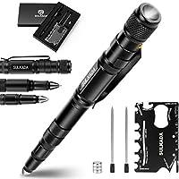 Tactical Pen Gift Set: Flashlight, Bottle Opener, Pen, Glass Breaker