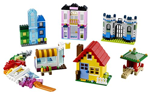 LEGO 10703 Classic Creative Builder Box Construction Set, Colourful Building Brick Set, Windows, Doors and Shingles