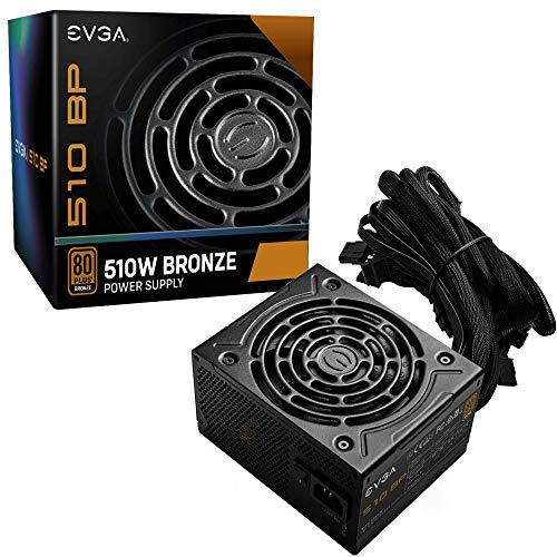 EVGA 510 BP, 80+ BRONZE 500W + 10W, 3 Year Warranty, Power Supply 100-BP-0510-K1