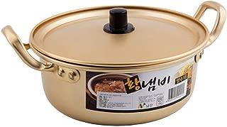 14, 16, 18, 20 cm Korean Aluminium nouilles Ramen Ramyun pot avec couvercle taille