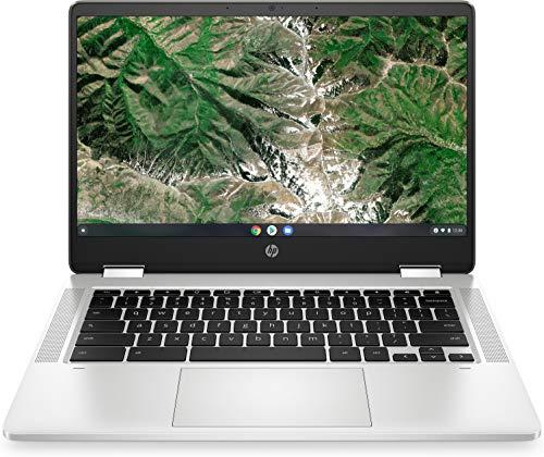 "HP Chromebook X360 14A 14a-ca0003ns - Ordenador portátil de 14"" FullHD Táctil (Celeron N4020, 4GB de RAM, 64GB Emmc, Intel Uhd Graphics, sistema operativo Chrome OS) Plata - teclado QWERTY Español"
