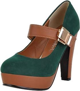 De Verde Amazon Plataforma Con esSandalias Zapatos Tacón nPwkNX8OZ0