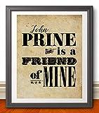John Prine Inspired 11x14 Poster Print   Music Poster