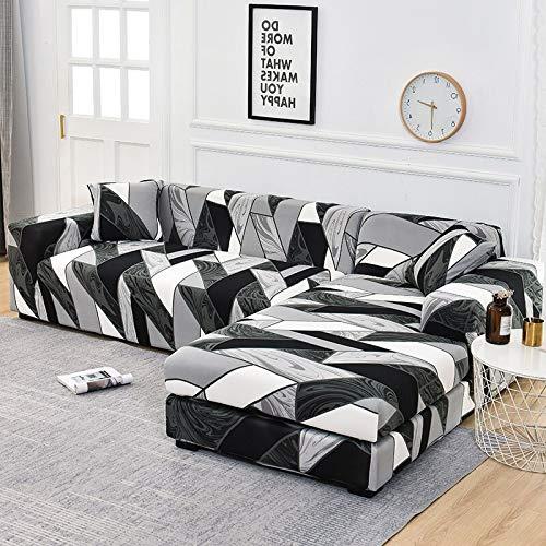 WXQY Funda de sofá de Esquina Funda de sofá elástica para Sala de Estar, Funda de sillón sofá sombreado sofá Todo Incluido Funda de sofá A11 2 plazas