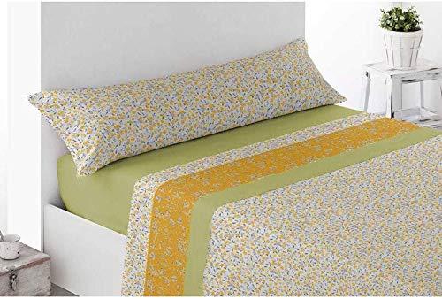 Energy Colors Textil - Hogar - Michigan - Juego Sábanas 3 Piezas Microfibra Verano para Colchón 200 centímetros de Largo (135)