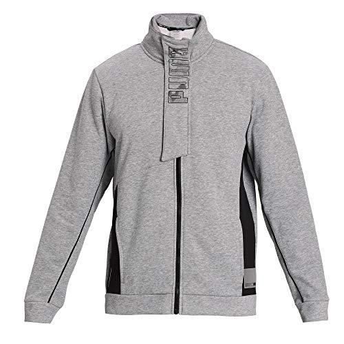 PUMA Men's Train Knit Full Zip Jacket, Medium Gray Heather, M