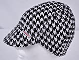 Comeaux Caps Reversible Welding Cap Black and White Houndstooth Size 7 5/8