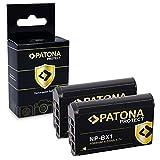 PATONA 2X NP-BX1 Protect V1 Bateria Compatible con Sony CyberShot DSC RX100, RX1r, RX100MII, WX300