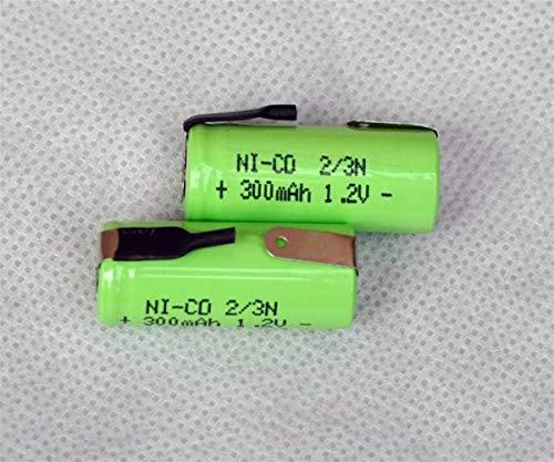 QianHaoQJu XW-Battery, 2pcs 1.2V 2 / 3N batería Recargable Celular nicd 300mAh...