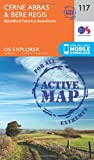 Cerne Abbas and Bere Regis, Blandford Forum and Beaminster (OS Explorer Active Map)