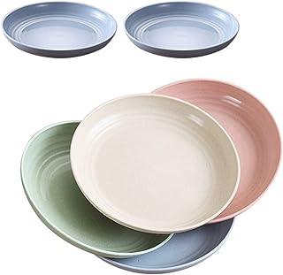 comprar comparacion Platos de cena de paja de trigo de 7.8 pulgadas, aptos para microondas y lavavajillas, ligeros, sin BPA, para ensalada/pas...