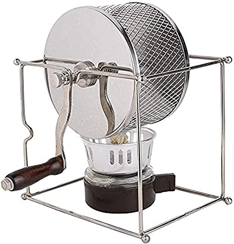 XJYDS Coffee Bean Tosting Machine Coffee Roaster Mini Manual Frijoles de café Máquina de tostado Máquina de acero inoxidable Manual Hecho a mano BRICOLAJE Máquina para hornear de rodillos con asa de m