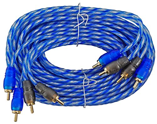 Rockville RTR174 17 Foot 4 Channel Twisted Pair RCA Cable Split Pin, 100% Copper