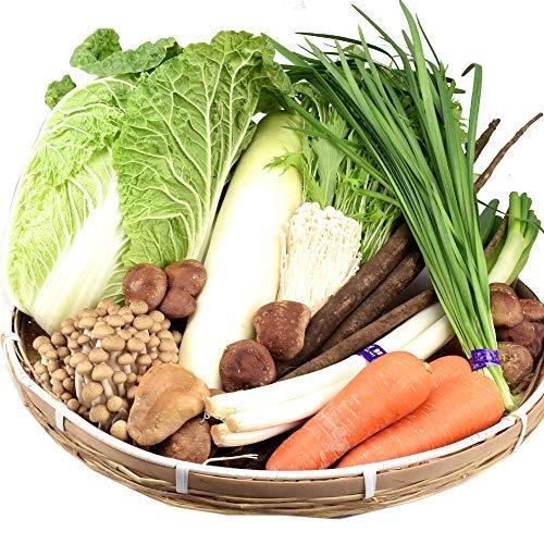 国華園 国産 10品目の鍋野菜セット 1箱 鍋用 野菜詰め合わせ 白菜 大根 きのこ 常温