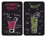 WENKO Placas cobertoras de vidrio universal Margarita, Cubierta de cocina,...