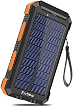 Solar Charger 30000mAh Portable Solar Power Bank for External Backup Battery Power Pack Charger Built-in Type C Input Port and Dual USB/Flashlight for All Cell Phones, Tablets and Electronic Devices