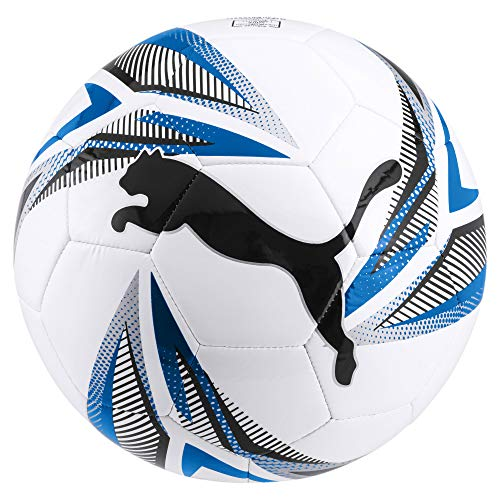 PUMA Unisex-Adult ftblPLAY Big Cat Ball Fußball, White Black-Electric Blue Lemonade Silver, 5